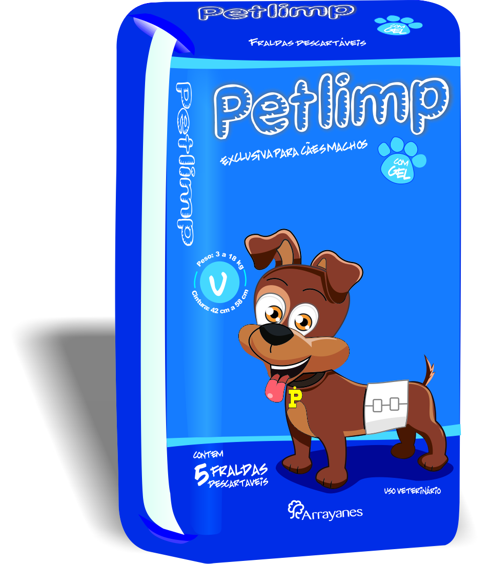 Lançamento: Fraldas petlimp para cães machos